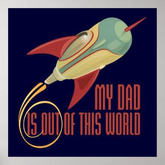My Dad Rocket Poster