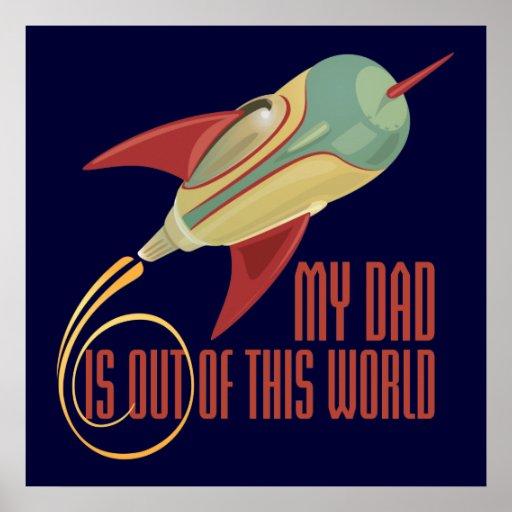 My Dad Rocket Print