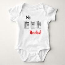 My DAD Rocks! Baby Bodysuit