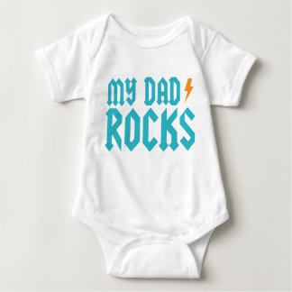 My dad rocks baby bodysuit