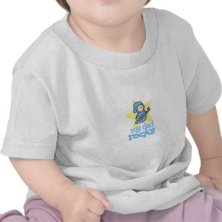 My Dad Rocks - Baby with Guitar T Shirt