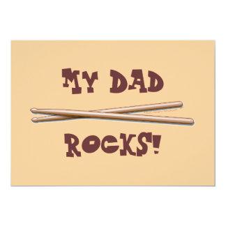 My Dad Rocks Drumsticks for Drummer Father Card