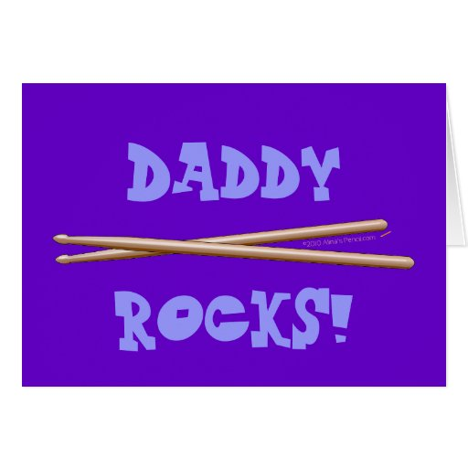 My Dad Rocks Drumsticks for Drummer Father Card
