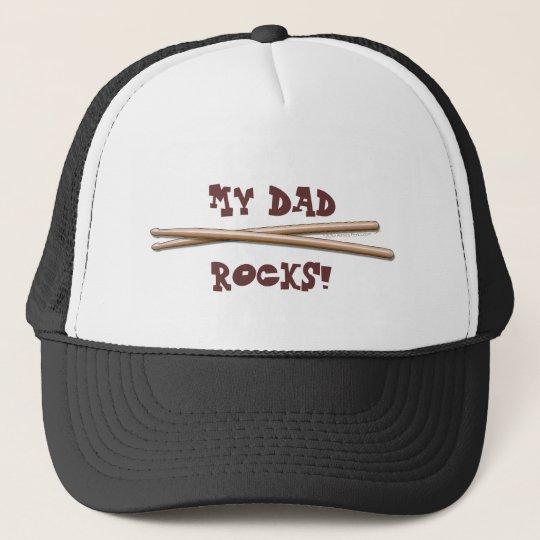 My Dad Rocks Drumsticks for Drummer Father Trucker Hat