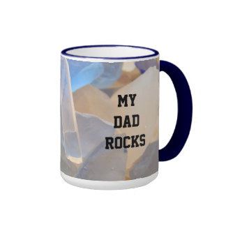 My Dad Rocks Mugs Seaglass Father's Day gifts