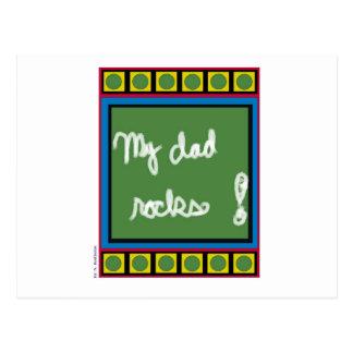 My Dad Rocks Postcard