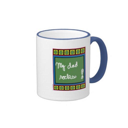 My Dad Rocks! Ringer Coffee Mug