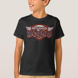 My Dad Rocks Rockstar Purple & Rust Chalkboard - T-Shirt