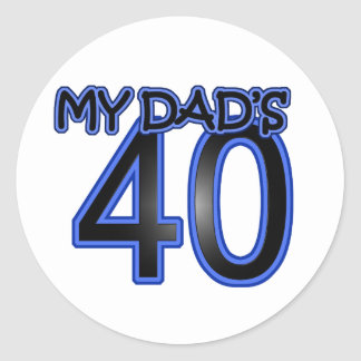 My Dad s 40 Stickers