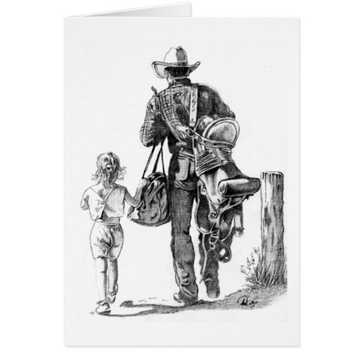 My Dad´s a Cowboy Greeting Cards