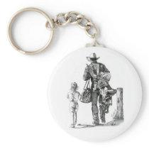 My Dad´s a Cowboy Keychain