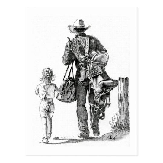 My Dad´s a Cowboy Postcard