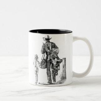 My Dad´s a Cowboy Two-Tone Coffee Mug