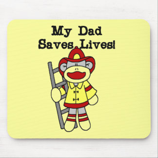 My Dad Saves Lives Firefighter Tshirts and Gifts Mouse Pad