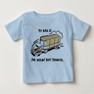 My Dad The Trucker Baby T-Shirt