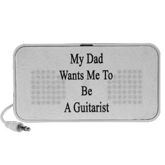 My Dad Wants Me To Be A Guitarist iPhone Speakers