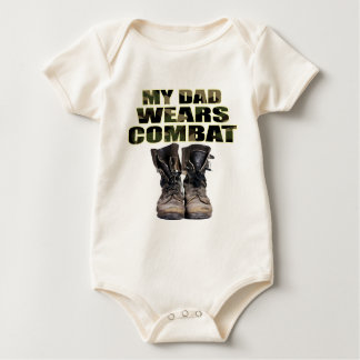 My Dad Wears Combat Boots Baby Bodysuit