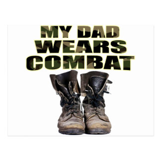My Dad Wears Combat Boots Postcard