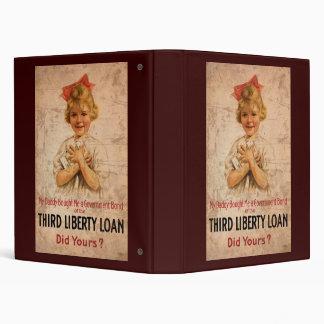 My Daddy Bought Me Third Liberty Loan 3 Ring Binder
