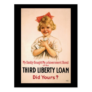 My Daddy Bought Me Third Liberty Loan Post Card