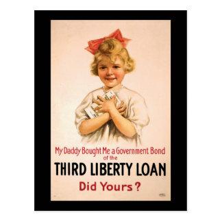 My Daddy Bought Me Third Liberty Loan Postcard