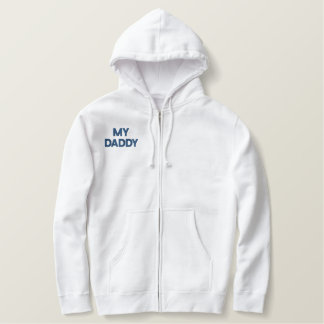 MY DADDY cardigan Embroidered Hoodie