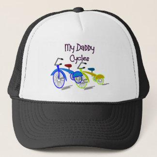 My Daddy Cycles--Kids Biking T-shirts Trucker Hat