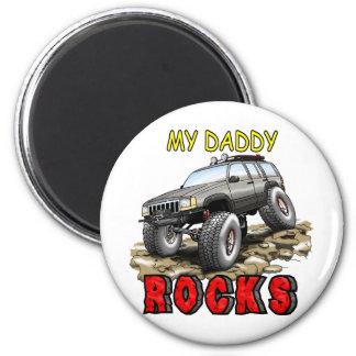 My_Daddy_Daddy_Rocks_ZJ 2 Inch Round Magnet