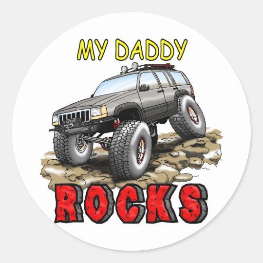 My_Daddy_Daddy_Rocks_ZJ Classic Round Sticker