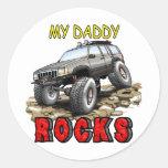 My_Daddy_Daddy_Rocks_ZJ Pegatina Redonda
