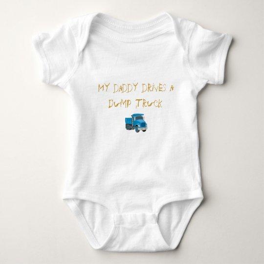 My daddy drives a Dump Truck Baby Bodysuit