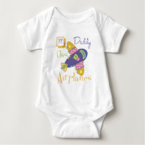 My Daddy Flies Airplanes Baby Bodysuit