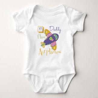 My Daddy Flies Airplanes Baby Bodysuit