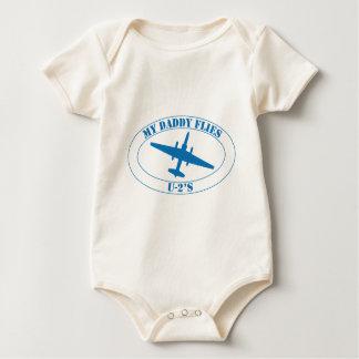 My daddy flies U-2's Baby Bodysuit