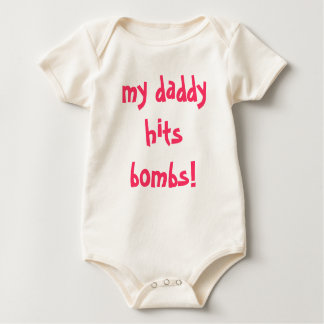 my daddy hits bombs! romper