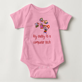 My Daddy is a Computer Tech Infant Baby Bodysuit