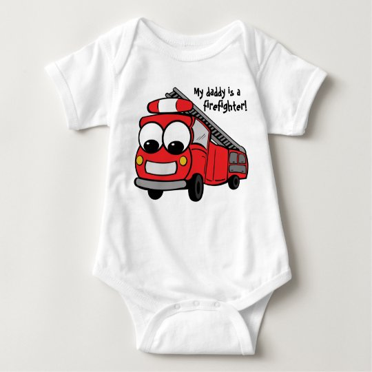 My daddy is a firefighter - baby baby bodysuit