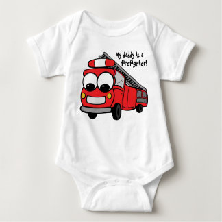 My daddy is a firefighter - baby infant creeper