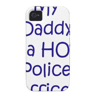 My daddy is a hot police officer Case-Mate iPhone 4 cases