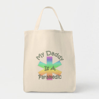 My Daddy Is A Paramedic Grocery Tote Bag