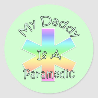 My Daddy Is A Paramedic Classic Round Sticker