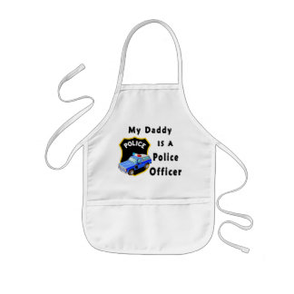 My Daddy Is A Police Officer Aprons