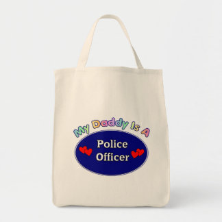 My Daddy Is A Police Officer Canvas Bags