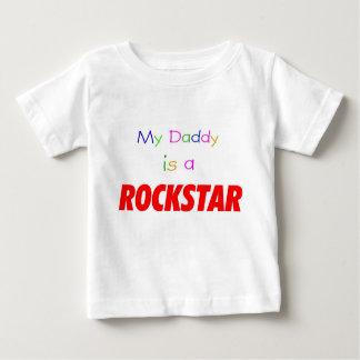 My Daddy is a rockstar Baby T-Shirt