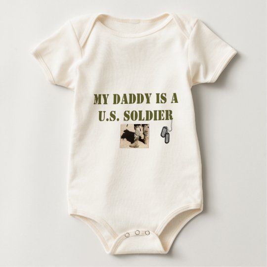 MY DADDY IS A U.S. SOLDIER BABY BODYSUIT