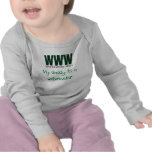 My daddy is a webmaster Infant Long Sleeve Shirt