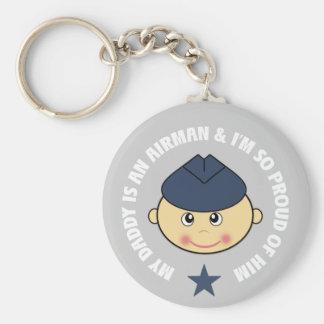 My Daddy is an Airman Keychain