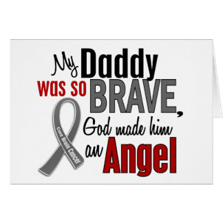 My Daddy Is An Angel 1 Brain Cancer Greeting Cards