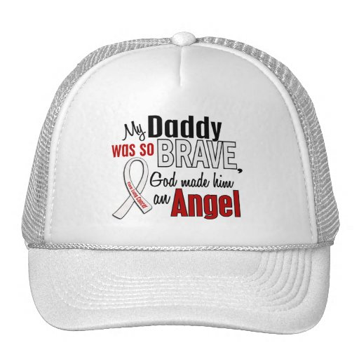 My Daddy Is An Angel Lung Cancer Hat