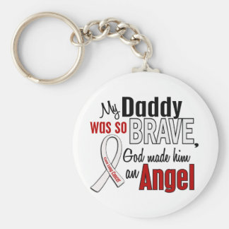 My Daddy Is An Angel Lung Cancer Keychain